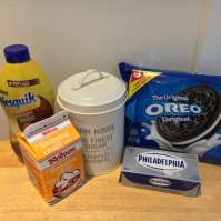 All you need for your filling and the whipped cream topping